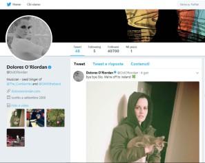 Dolores O'Riordan Twitter