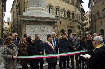Restauro colonna della giustizia - Via Tornabuoni 3