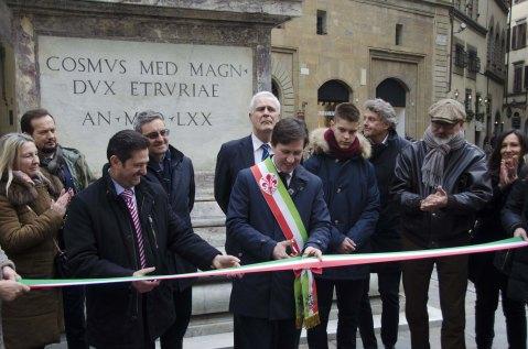 Restauro colonna della giustizia - Via Tornabuoni 4