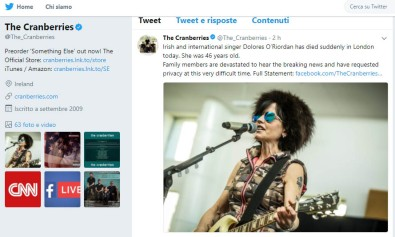 The Cranberries Twitter