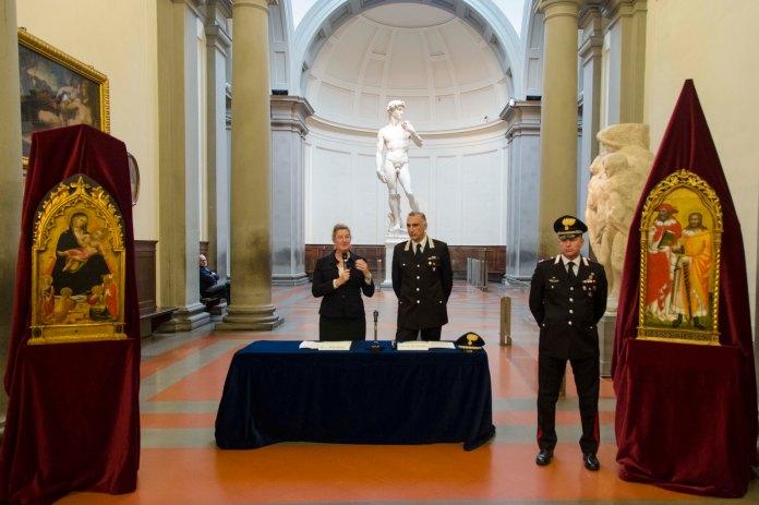 Galleria dell'Accademia - Recupero opere Niccolò di Pietro Gerini e Maestro Cappella Bracciolini 1