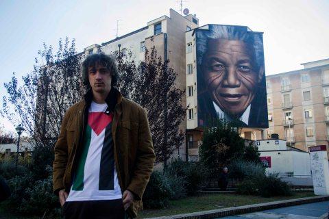 Jorit inaugurazione murales Mandela 2